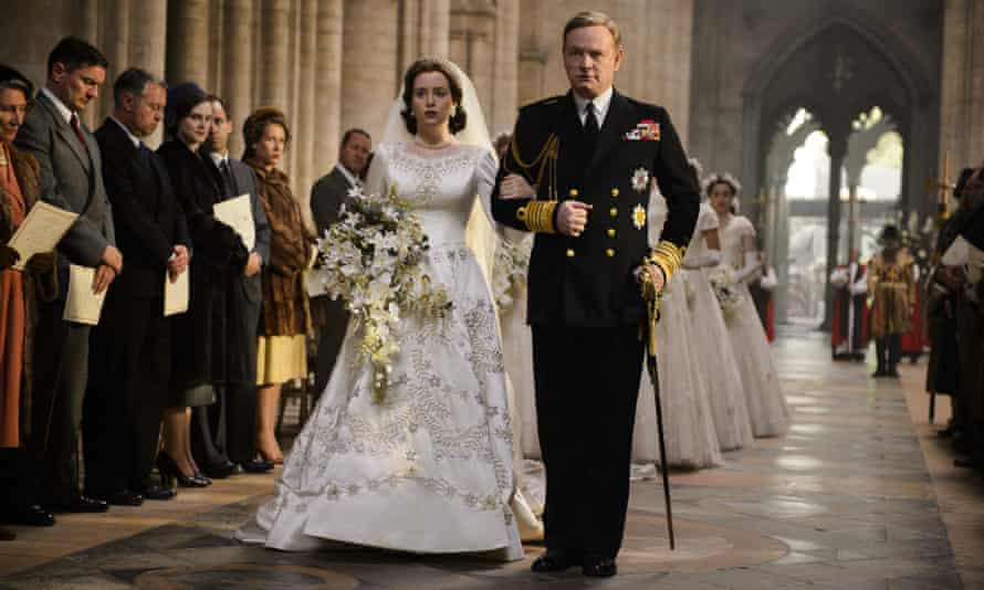 With Claire Foy in the first series of The Crown, playing George VI.