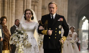 Claire Foy and Jared Harris in The Crown.