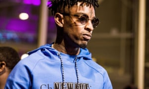 21 Savage at YouTube Space LA in 2017