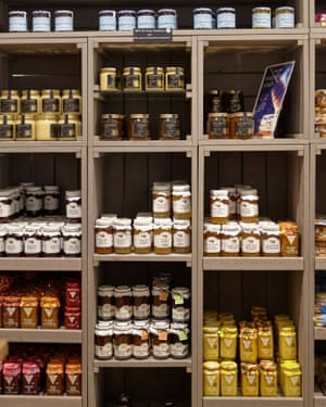 Cottage Delight curd and Mrs Povey's jams and marmalade on sale at the Canalside Farm Shop, Mill Ln, Great Haywood, Stafford ST18 0RQ (a half-hour cycle from central Stafford).