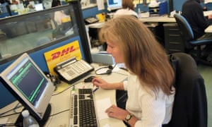 A DHL call centre is there to help : but some customers are counting the cost.