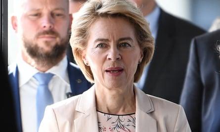 Ursula von der Leyen, incoming president of the European parliament