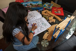 Books and toys were donated by a charity that helps asylum seekers