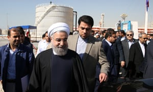 President Hassan Rouhani at the opening of a section of the South Pars gas field
