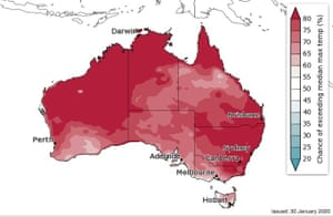 Bureau of Meteorology temperature outlook February to April