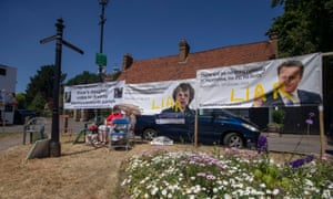 A protest in Harmondsworth last year