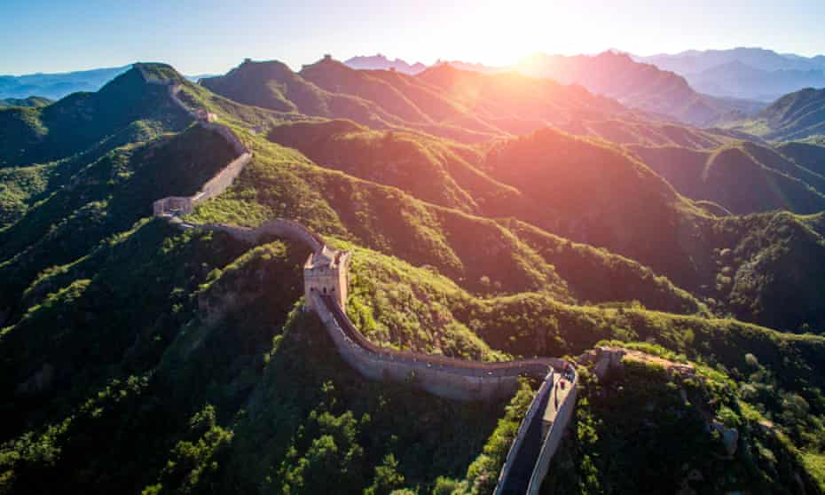 Aerial view of the Great Wall of China