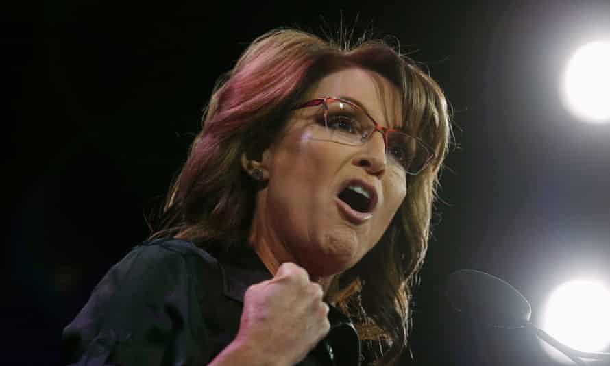 Former governor of Alaska Sarah Palin speaks in Iowa.