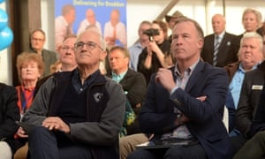 The prime minister, Malcolm Turnbull, and the Tasmanian premier, Will Hodgman, in Wivenhoe, Tasmania