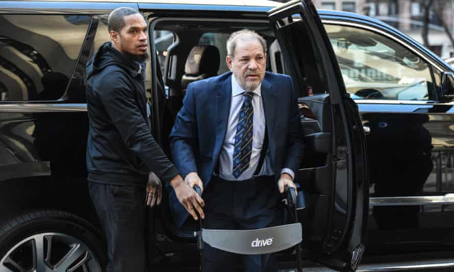 Harvey Weinstein arrives for his sexual assault trial in New York.