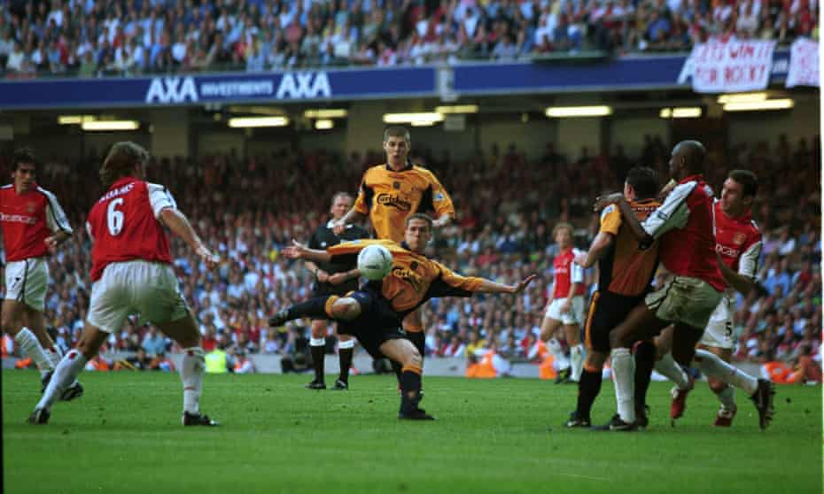 Michael Owen takes aim to give Liverpool a precious equaliser at the Millennium Stadium