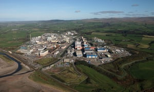 The Sellafield site, split by the River Calder,