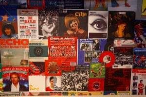 Posters of Liverpool-based acts adorn the walls of the Beat Lounge