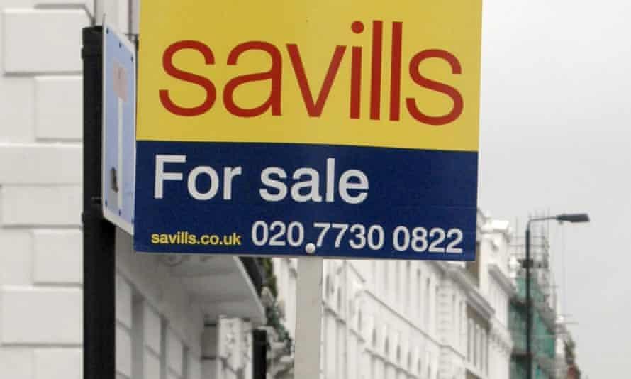 A Savills sign