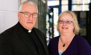Canon Nigel Cahill and Carol Powrie.
