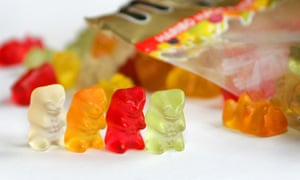 Sweets made by the German manufacturer Haribo.
