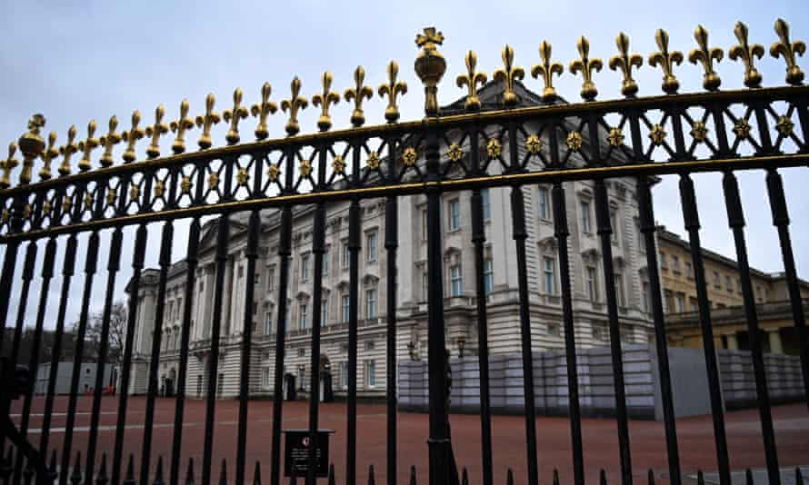 A view into Buckingham Palace, London, 10 March.