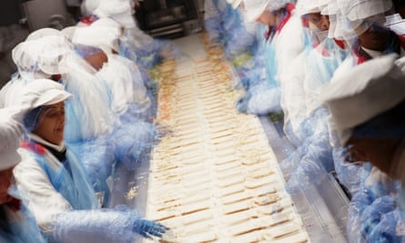 Sandwich makers on the production line