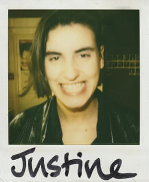 Phill Savidge's Polaroid shot of Elastica singer Justine Frischmann, one of his clients in the Britpop years.