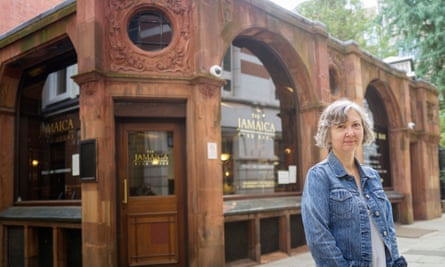 'We're looking the past squarely in the eye' … Ildiko Bita outside the pub where the Jamaica Coffee House once stood.