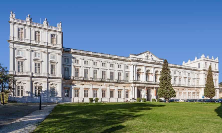 Ajuda National Palace, Lisbon, Portugal. 19th century neoclassical Royal palace.