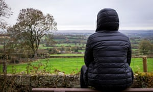 A lone male in a rural location in England.