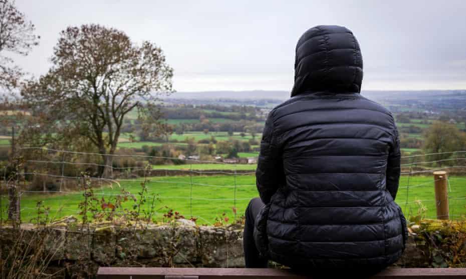 A lone male in a rural location