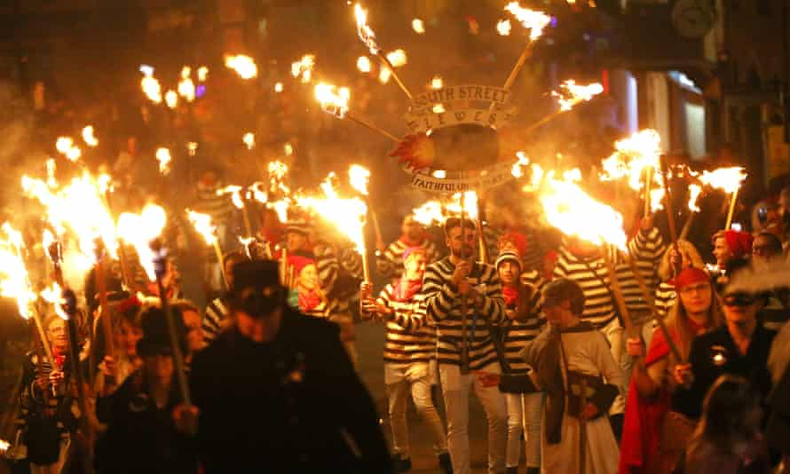 Bonfire night celebrations in Lewes, East Sussex