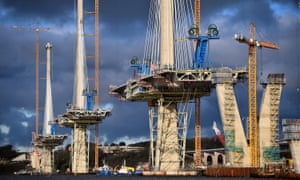 the new Firth of Forth bridge being built