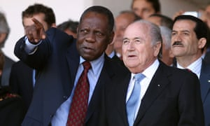 Issa Hayatou with Sepp Blatter