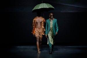Michael K Williams walks the runway