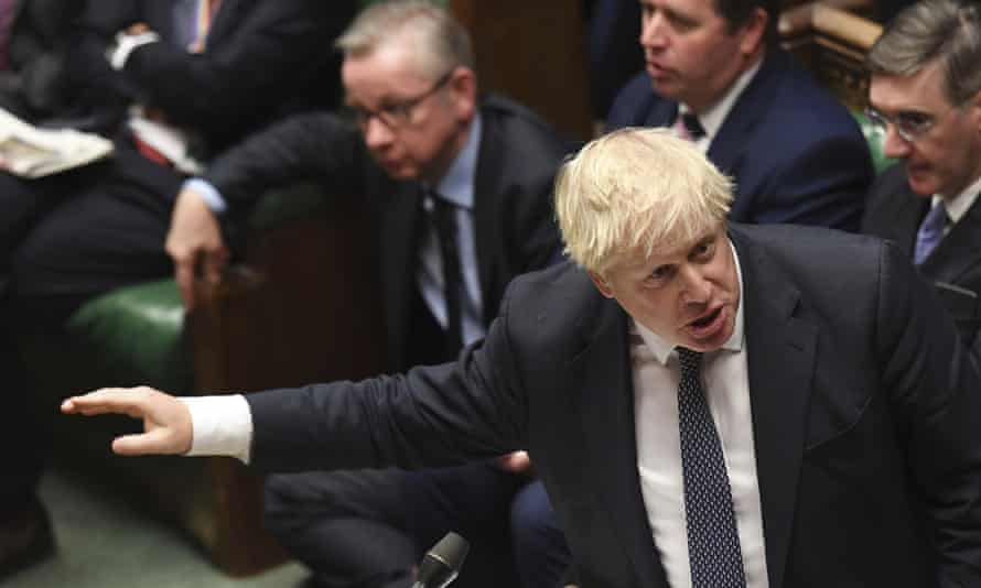 Boris Johnson at prime minister's questions on 23 October 2019.