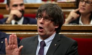 The Catalan regional president, Carles Puigdemont