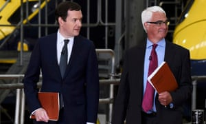 Former Labour chancellor Alistair Darling, right, joins George Osborne at an EU remain event, in Kent on Wednesday.