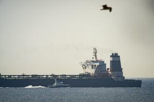 The Grace 1 supertanker in Gibraltar