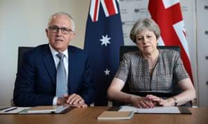 Malcolm Turnbull and Theresa May