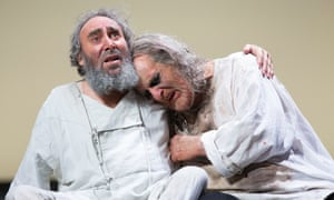 Antony Sher, left, with David Troughton, 'a turbine force' as Gloucester in King Lear at Stratford