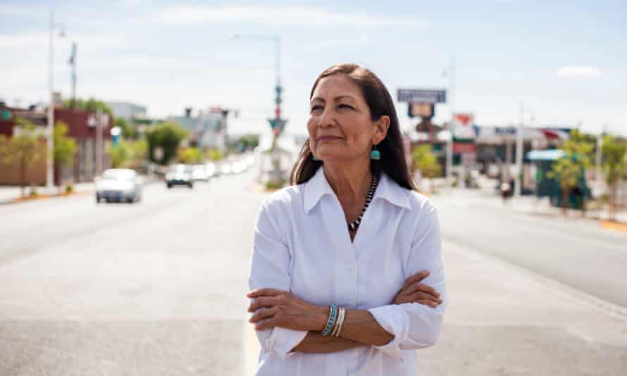 Deb Haaland would be the first Native American cabinet secretary.