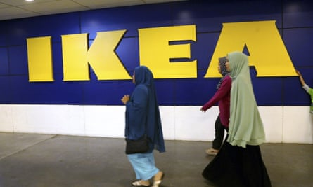 IKEA shoppers at the Tangerang store outside Jakarta, Indonesia