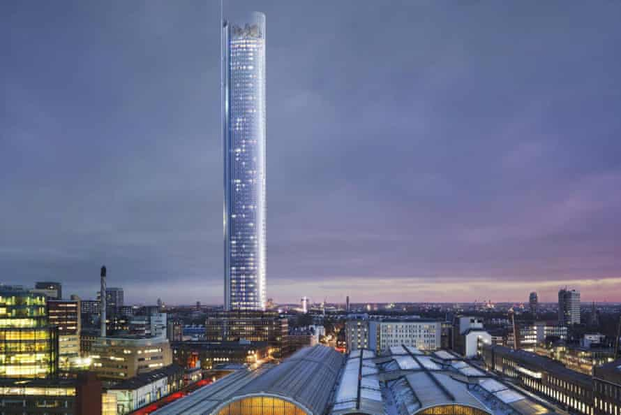 A projection of the planned tower in Paddington, west London.