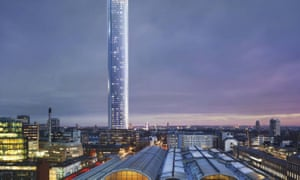 The 72-storey tower in Paddington, London designed by Renzo Piano