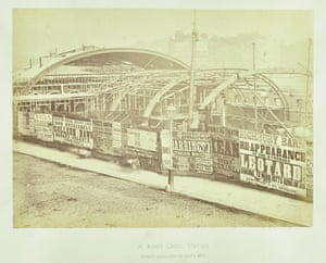 Construction of the Metropolitan Railway (London's first tube line) at King's Cross Station