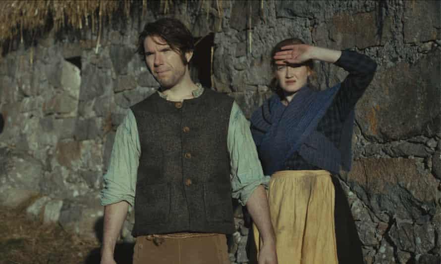 Too saintly by half? … Dónall Ó Héalai and Elaine O'Dwyer in Arracht.