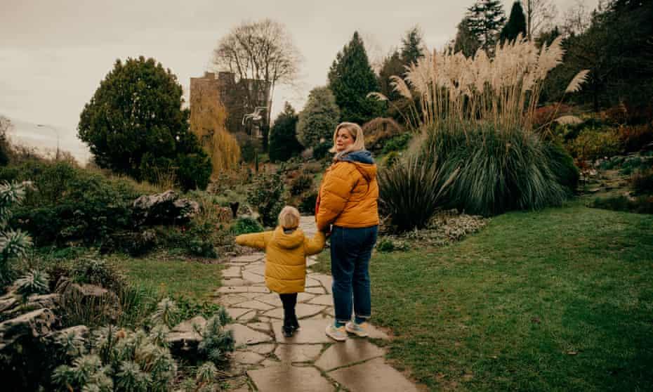 Alexandra Heminsley and her son, December 2020
