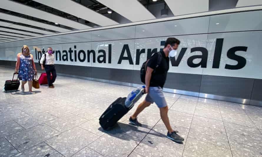 Travellers at Heathrow