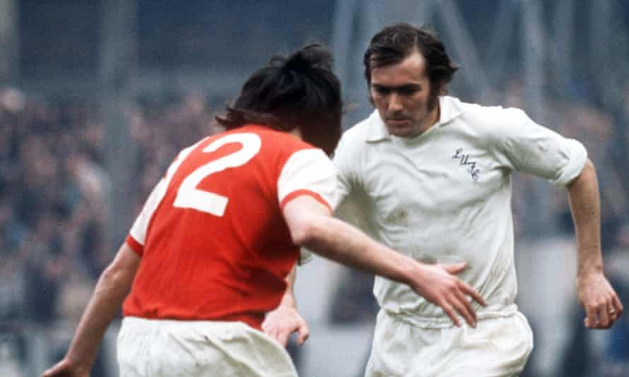 Terry Cooper, right, playing for Leeds United against Arsenal in 1972.