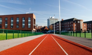 The university's Parkgate Road Campus, looking from the sprint track into the heart of the campus.