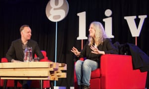 Patti Smith in conversation with Andrew O'Hagan at a Guardian Members event at The Emmanuel Centre, London SW1.