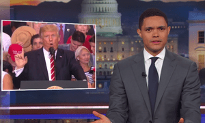 'Like in any story, if you remove a crucial piece of information, of course the story will change,' Trevor Noah said.