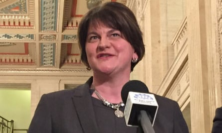Arlene Foster said: '[Barnier's] proposal of us being in an all-Ireland regulatory scenario does not work.'